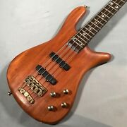 Electric Bass Guitar Warwick Stereamer Stage F-076049-00 Used Afzelie Wenge