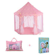 Pink Kids Play Tent Girls Princess Castle Play Tent Children Playhouse For