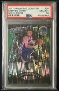 2017 Panini National Convention Vip Green Shimmer Prizm 5/5 Stephen Curry Psa 10