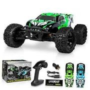 Rc Cars 65+ Km/h Speed - Boys Remote Control 110 Scale Brushless Green - Black