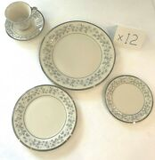 Vintage Collectible Lenox China Complete Set For 12 Windsong Pattern 60 Pieces