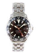 Omega Seamaster Gmt Chronometer Automatic Date Watch 2534.50 50th Anniversary