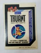 Vintage Truant Cigarettes 1974 Wacky Packages Series 6 Printed In Usa