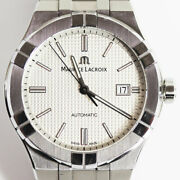 Maurice Lacroix Icon Automatic Ai6008-ss002-130-1 Mens Watch From Japan N0924
