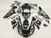 Fit For 2005 2006 Zx6r 636 West Black White Abs Plastic Injection Fairing Kit
