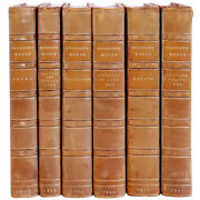 Set Of 6 Antique Leather Books Emerson's Essays By Ralph Waldo Emerson C. 1900
