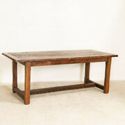 Antique Farm Dining Kitchen Table From France
