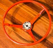 1965-66and039s Ford Mustang Steering Wheel Bright Red Oem