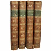 4 Antique Leather Books Lord Chesterfield's Letters By Eugenia Stanhope 1800