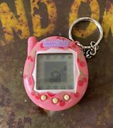Vintage 2004 Tamagotchi Connection Bandai Wiz V3 Pink Red Cherries Cherry Tested