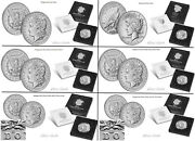 2021 Morgan Cc O D S And Peace Silver Dollars Full Set Of Six 6 Coins Pre-sale