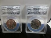 2014 Pandd Kennedy Half Dollar 50th Anniversary Anacs Sp69 2 Coin First Day.