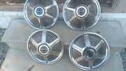 Four 1964 1/2 1965 Mustang Fastback Coupe Nos 14 Wheel Covers Hubcaps