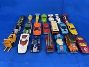 1970's Hot Wheels, Matchbox, Yat Ming And Tomica Lot Of 21 Cars And Trucks