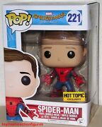Funko Pop Marvel Spiderman Homecoming Unmasked Spiderman 221 Ht Exc In Stock