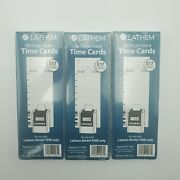 300 Lathem E17-100 Time Cards Bi-weekly Monthly Semi-monthly Weekly One Side 9