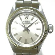 Auth Rolex Oyster Perpetual 6619 Silver 2666680 Womens Wrist Watch