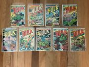 Marvel Comics The Incredible Hulk Lot Of 9 Raw Books 1970and039s Vf 8.0 Off White