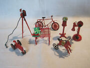 Miniature Metal Toys Camera Gumball Machine Phone Bicycle Tractor And More