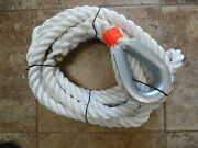 1 Inch X 20 Ft Dac/polyester Mooring Pendant With Hvy Dty Galvanized Thimble