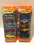 Matchbox Mbx 5 Pack Off Road And Road Trip Car Truck Toy Gift Sets Lot