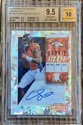2018 Contenders Courtland Sutton Cracked Ice Rookie Ticket Auto Rc /24 Bgs 9.5