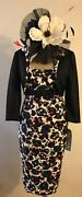 New Michaela Louisa Mother Of The Bride Print Dress And Jkt Size 14