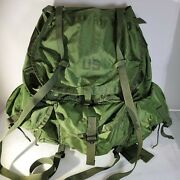 Vintage Us Military Alice Pack/field Pack. Lc-1 Large W/ Frame And Straps