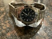 Tag Heuer Aquaracer Waf2112 38mm Automatic Dive Watch Blue Dial Stainless Steel