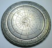 Perpetual Calendar Made From Genuine Antique 8 Reales 1700and039s Silver Dollar Coin