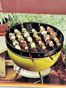 Vintage Nos New Weber Shish Kabob Set S-26 With Box Kettle Grill Top