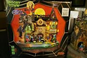 Rare Lemax Spooky Town Lil Witches Warlocks Nightcare Animated Halloween Retired