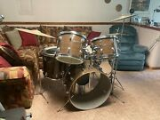 Oversized Rogers Vintageandnbspearly And03970s 5 Piece Complete Drum Kit - One Owner