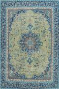 Antique Floral Traditional Oriental Area Rug Wool Hand-knotted Carpet 9x12 Ft
