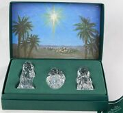 Marquis Waterford Crystal The Holy Family Nativity Collection Germany 1996