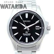 Grand Seiko Mechanical Automatic Sbgr031 Stainless Black Dial Menand039s Watch[u0928]