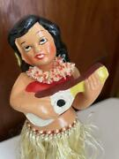 Occupied Japan Hula Girl Doll Figure Height 17 Cm Vintage Condition Good Rare
