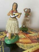 Occupied Japan Hula Girl Doll Figure Statues Vintage Condition Good Rare Used