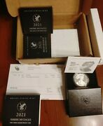 Qty 3 Free Ship - 2021 W 1oz American Silver Eagle Proof Type 2 Coins 21ean