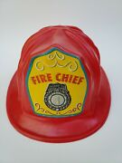 Vintage 1979 Coleco Toy Fire Chief Plastic Helmet 1970s Firefighter Firefighting