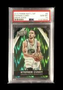 2015 Panini National Convention Vip Green Wave Prizms 5/5 Stephen Curry Psa 10