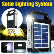 Solar Panel Power System Kit Charging Generator Led Outdoor Camping Light W