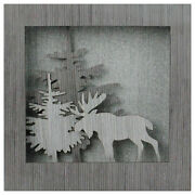 Northlight 10 Glittered Moose Silhouette Box Framed Christmas Table Decoration