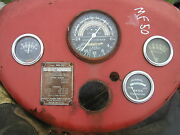 Massey Harris Ferguson 50 Tractor Dash Panel And Tachometer And Gauges And Serial Plat