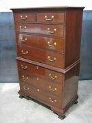 Councill Craftsman Chippendale Mahogany 8 Drawer Chest On Chest Mint