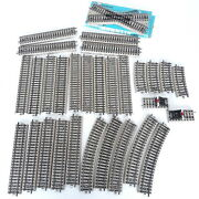 Marklin Ho Model Railroad Track Lot 30 Pieces - Straight Curved Crossing Bumpers