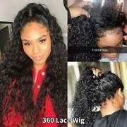 360 Lace Frontal Wig 28 30 Inch Water Wave 13x4 Lace Front Wig Human Hair Wigs D