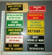 Vintage 1950's Wheaties Cereal Funny Silly Phrases Metal Plate Signs Set