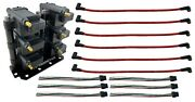 6 Universal Coil Packs Custom Mounting Bracket + Connector Pigtails + Plug Wires