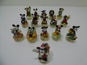 Lenox Walt Disney Productions Mickey Thimble Collection Figurines Lot Of 16